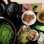 91074309 - 薬膳湯 つけ麺セット(辛口):1,260円