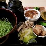 91074311 - 薬膳湯 つけ麺セット(辛口):1,260円