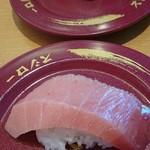 スシロー - 中トロ  一皿180円+(税)  これが、一番美味しかったぁ!(≧∇≦)
