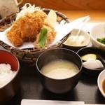 田はら - アジフライ定食