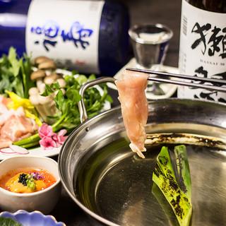 【季節限定】鶏しゃぶしゃぶ含む料理9品×飲み放題付4000円