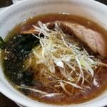 中国料理 四川彩館 - 冷やしネギ叉焼麺 (1080円) / ネギサイド