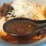 北海道らーめん 鷹の爪 - 豚骨醤油スープ
