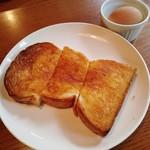 タロ コーヒー - Aセット(バター、ゆでたまご、セットドリンク付)…税500円