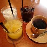 タロ コーヒー - ミルクも氷入り