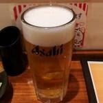 串揚げ ひふみ - 生ビール(スーパードライ)