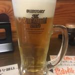 東京担々麺  ゴマ哲 - 生ビール