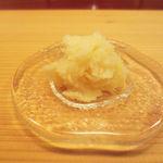 天現寺小野 - 卵の塩漬け