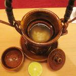 天現寺小野 - 土瓶蒸し 鱧 生麩