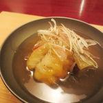 天現寺小野 - 鱧と茄子の揚げ物 餡かけ 茗荷
