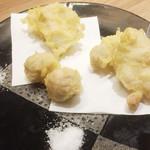 地鶏屋  炭鶏 - 地鶏の3種天ぷら盛り