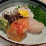 清寿司 - 貝刺身盛合せ