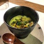 世田谷 肉処 さかもと - トウモロコシの冷製スープ