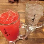 づめかん - トマトサワー¥200、チューハイ¥200