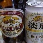 フクノヤ - 瓶ビールの後は淡麗