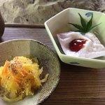 床瀬そば - ★★★☆ そばセットのそうめんカボチャと落花生豆腐