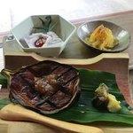 床瀬そば - ★★★★ そばセットの茄子の味噌田楽 熱々トロトロで美味