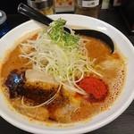 辛口肉ソバ ひるドラ - 辛口肉そば(味噌)