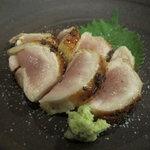 鳥長 - 宮崎地鶏のたたき(胸肉)