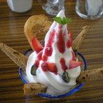 リズム - 茶路ソフトクリームパフェ