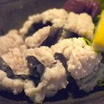 阿留酎 - 鱧の湯引きは梅肉と酢味噌で