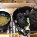 91121419 - 2018.8.12  【箱根熔岩 (黒から揚げ) 丼】 1000円
