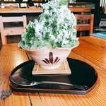 茶房山のうさぎ - 料理写真:宇治ミルク金時氷