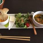 カフェ・リズム - 前菜のスープ旨かった