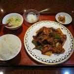 91127249 - 辛口ナスの味噌炒めランチ