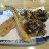 はし - 料理写真:「穴子と舞茸の天ぷら」