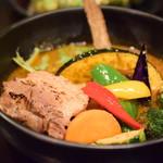 Rojiura Curry SAMURAI. - 【侍まつり(3種)@1,580円】3種選べる具材:炙りチャーシューサクサクブロッコリー/ザンギ。サクサクブロッコリー/ザンギは、ライスにオン。