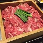 茨城地産地消の店 あんこう鍋×常陸牛 全席個室 もんどころ - 牛肩ロースのセイロ