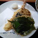 まるしん - まるしんセットの天ぷら