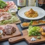 お肉とうにバル TUNA - 料理写真:コース例