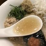 創作麺工房 鳴龍 - デフォスープに鰹、うるめ、昆布のトロントロンスーぷ