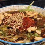 辣上帝 - 酸辣粉3辛 見た目ほど辛くなく美味しくいただきました。麺がもっちもちで噛みきれないほど。
