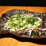 牛肉専門 ぶんご牛肉店 - ☆焼きしゃぶの葱まみれ ポン酢風味 1380円