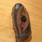 鮨 さかい - 根室の秋刀魚の塩〆