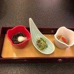白良荘グランドホテル - 料理写真:前菜3種