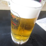 居酒屋 ちょうちん たつみ - ドリンク写真:まずはビアーで乾杯