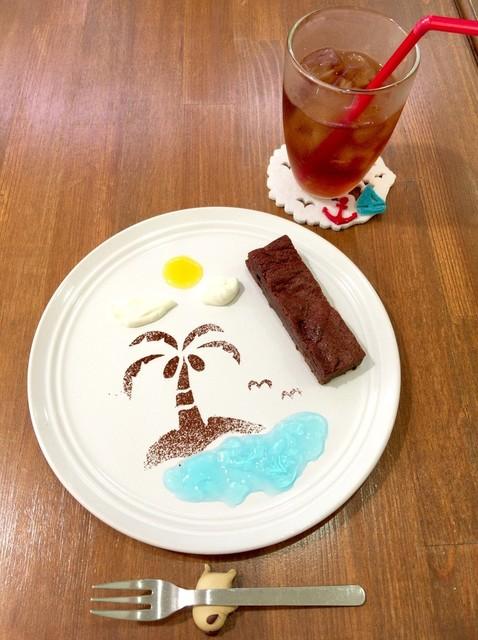 ショコラッタ - 濃いガトーショコラセット(濃いガトーショコラ+ドリンク)
