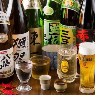 有名銘柄日本酒含む70種類以上飲み放題コース!!