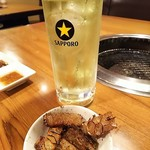 げんかや - 緑茶ハイ&ハチノス