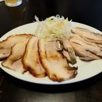 麺の風 祥気 - ちゃーしゅー盛り(豚バラ&鶏モモ)