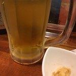 森のこかげ - ビールとお通し