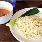 七菜矢 - 冷やし坦々つけ麺 890円 フツーに食べたらフツーに美味いです。右下の実切れてる辛味噌がかなりしょっぱいのです。