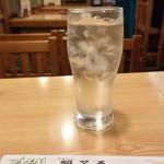 寿司・うなぎ 羽子吾 - 白水(麦焼酎水割り)