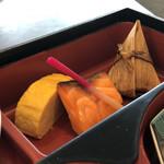 91168092 - 和菜御膳(サーモン、ちまき、玉子焼き)