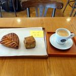 エスプリ・ド・ビゴ - アップルパイ324円、 紅茶のスコーン237円 、ブレンドコーヒー540円
