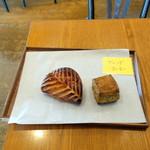エスプリ・ド・ビゴ - アップルパイ324円、 紅茶のスコーン237円